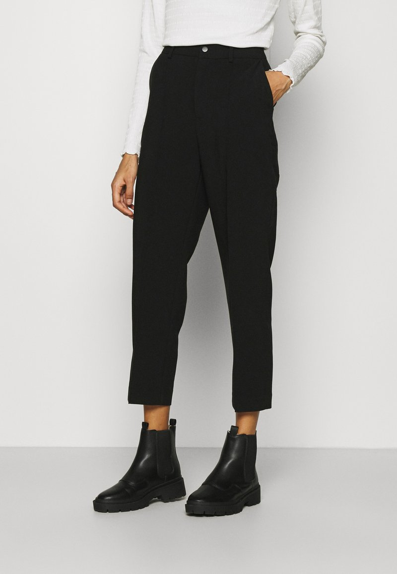 Anna Field - BASIC BUSSINESS PANTS WITH PINTUCKS  - Trousers - black