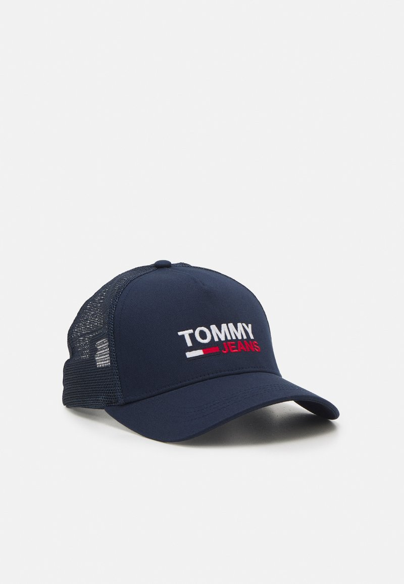 Tommy Jeans - FLAG TRUCKER UNISEX - Cap - twilight navy