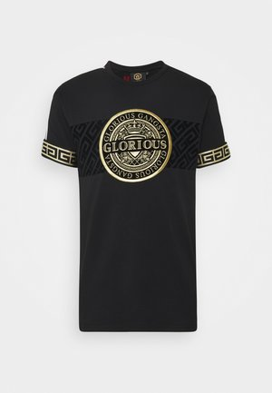 BOTTAGOT - T-shirt con stampa - black