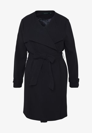 CREPE SYNTHETIC COAT - Classic coat - midnight