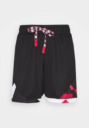 SHORT - Sports shorts - black/university red