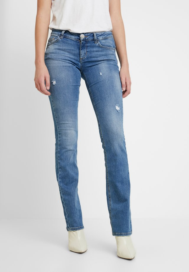 UP REPOT REG - Jeans bootcut - denim blue clear wash