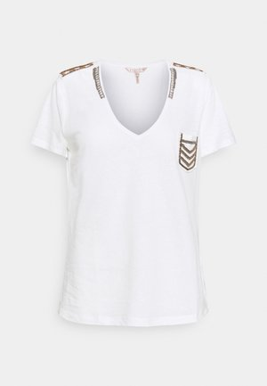 MILITARY PATCHES - Print T-shirt - off white