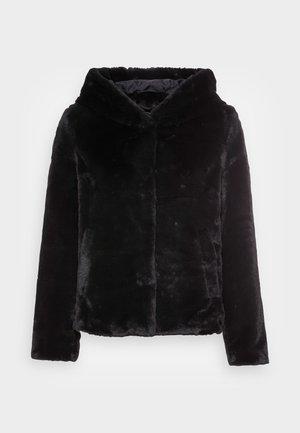 VMIBEN HOODIE FAUX FUR JACKET  - Winter jacket - black