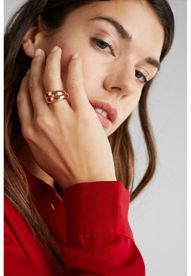 RING MIT ZIRKONIA, EDELSTAHL - Ring - silver-coloured