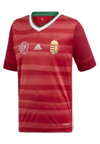 adidas Performance - HUNGARY HFF HOME AEROREADY JERSEY - Club wear - red - 1
