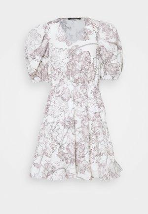 POSY OLIVINE DRESS - Korte jurk - snow white