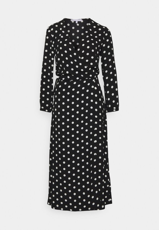 TRUE VIOLET  - Day dress - black/ivory spot
