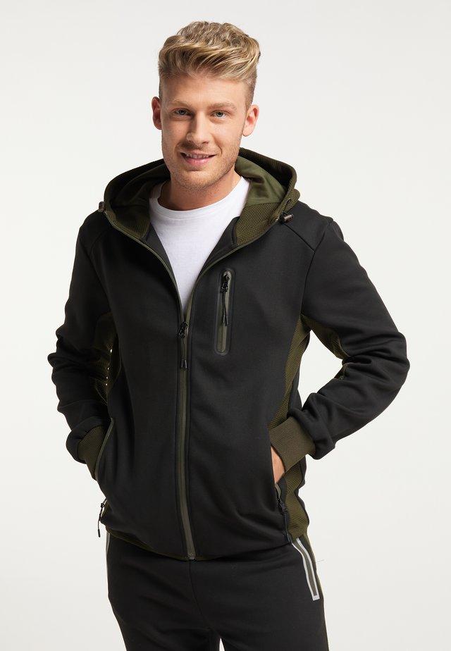 Training jacket - schwarz oliv