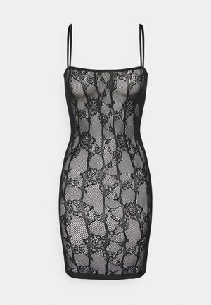 THE ILLUSTRIOUS BOXED COVERED DRESS - Chemise de nuit / Nuisette - black