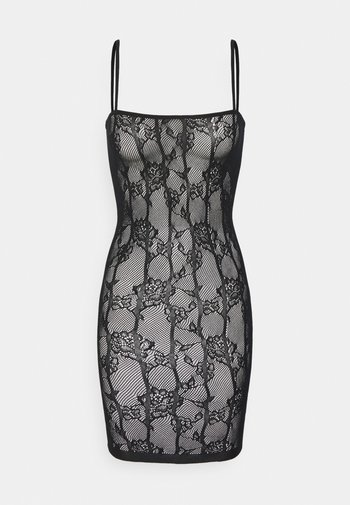 THE ILLUSTRIOUS BOXED COVERED DRESS - Nightie - black