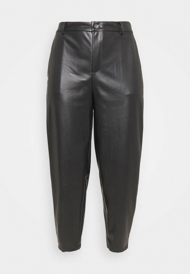 Noisy May Curve - NMCHIKA ANKEL PANTS - Kangashousut - black