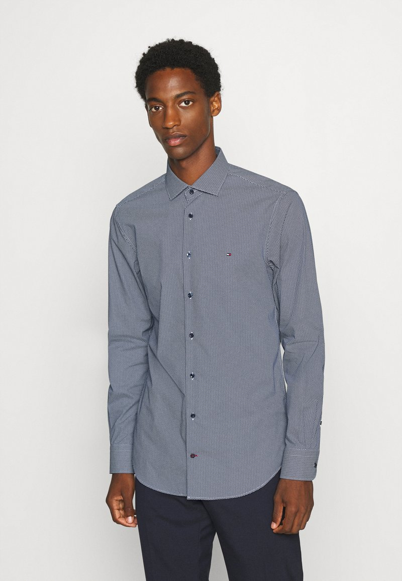 Tommy Hilfiger Tailored - MICRO PRINT CLASSIC SLIM - Formal shirt - blue