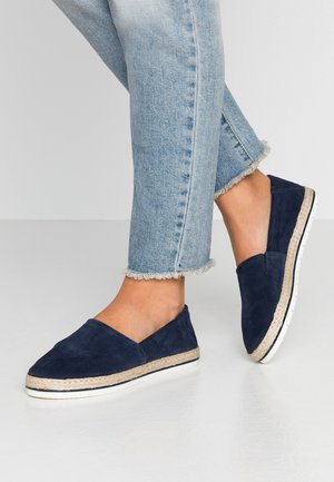 LEATHER - Espadrilky - dark blue