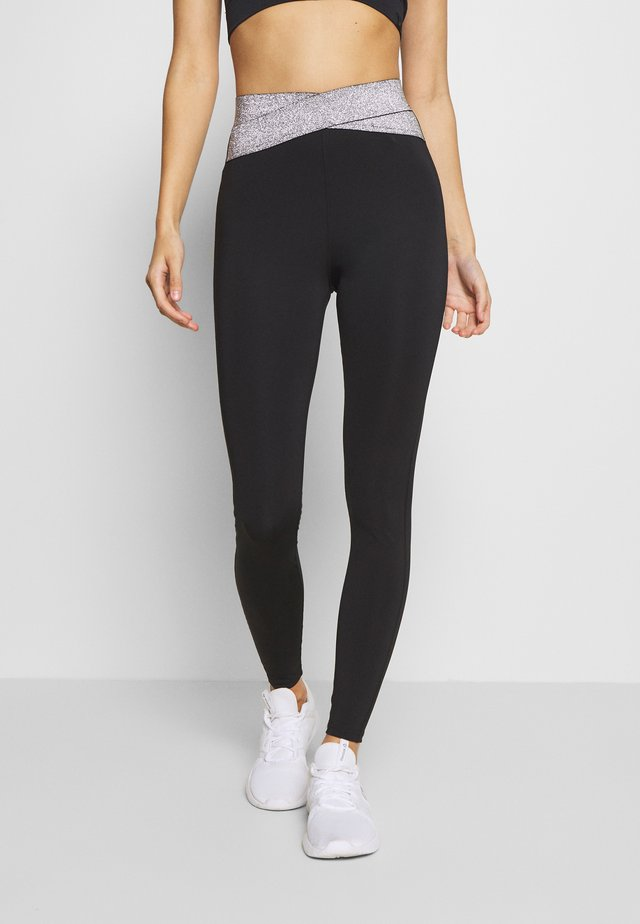 HIGH WAIST BANDED LEGGING - Legging - metallic grey
