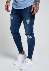SIKSILK - SIKSILK SKINNY DISTRESSED - Jeans Skinny Fit - blue - 4