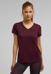 Esprit Sports - Basic T-shirt - bordeaux red - 2