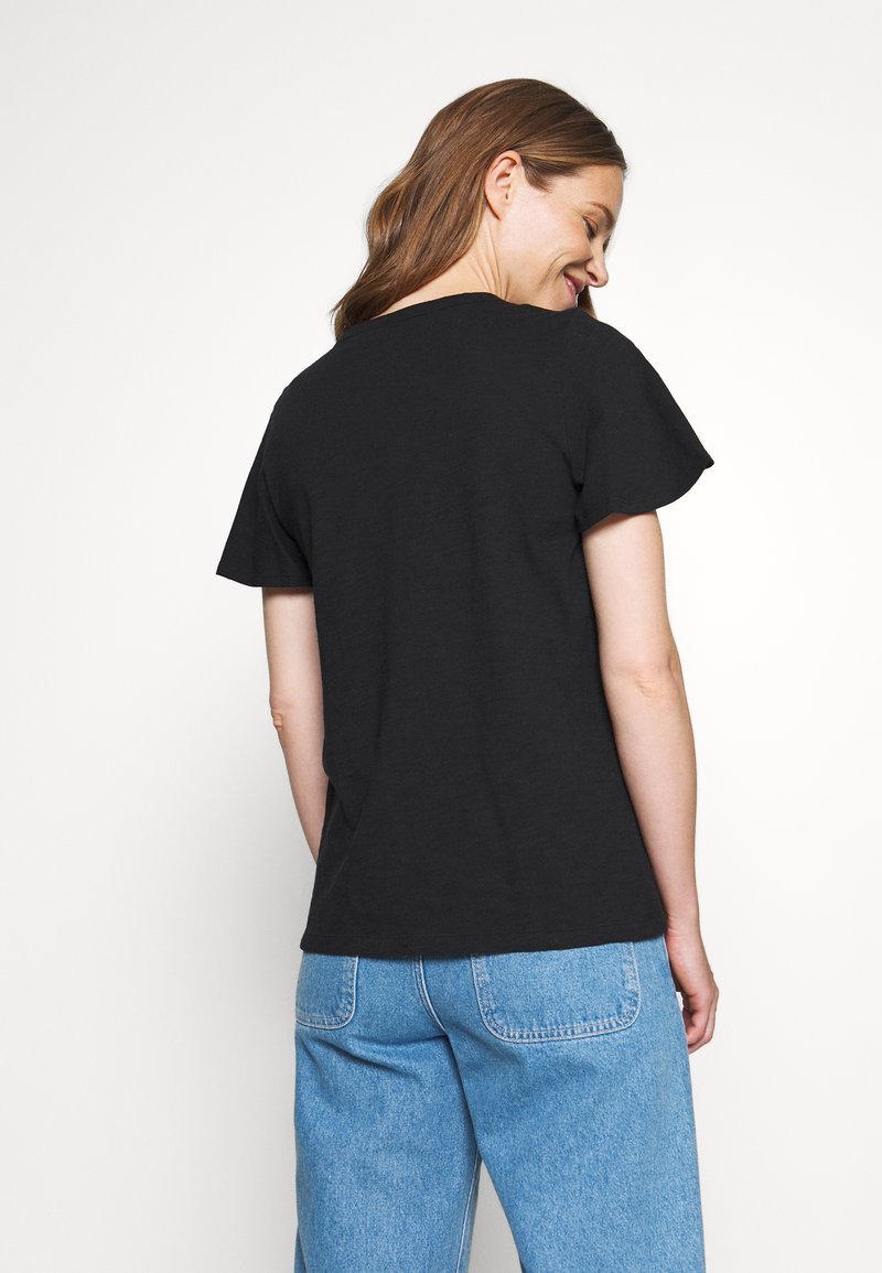 GAP - SLUB  - T-shirts - true black