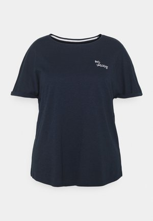 CHEST EMBROIDERY - Print T-shirt - sky captain blue