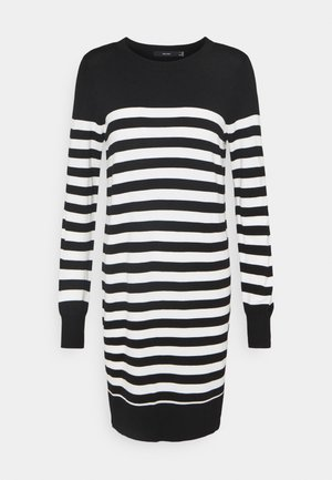 VMLACOLE STRIPE BALLOON DRESS  - Jumper dress - black/snow white