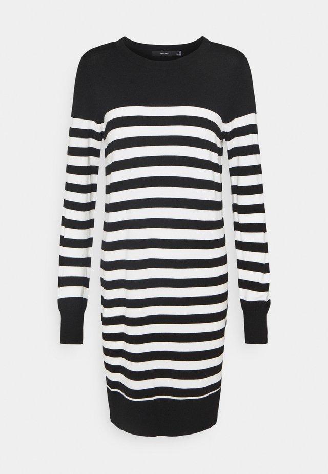 VMLACOLE STRIPE BALLOON DRESS  - Vestido de punto - black/snow white