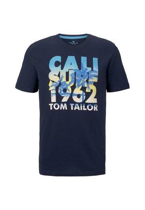 TEE WITH COLOR PRINT - Camiseta estampada - black iris blue