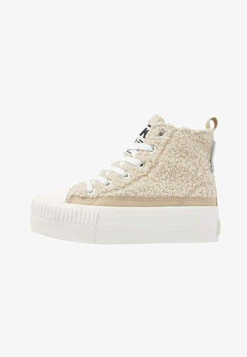 KAYA MID - Sneakers hoog - beige / white