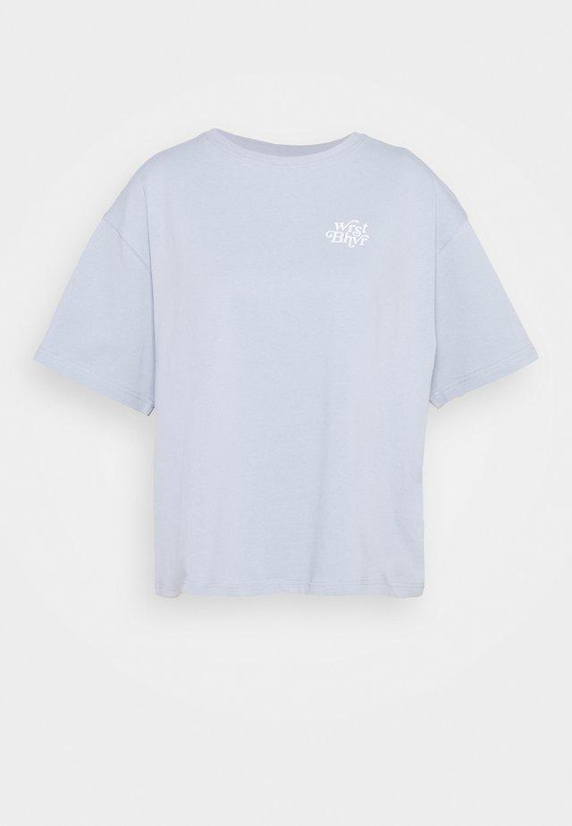 HEAVEN SENT - T-shirt imprimé - sky blue