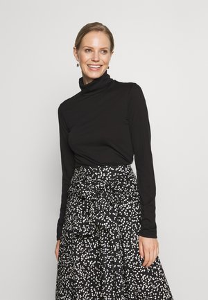 ROLLNECK - Long sleeved top - black