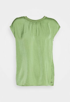 BLOUSE WITH NECK - Blusa - olive green