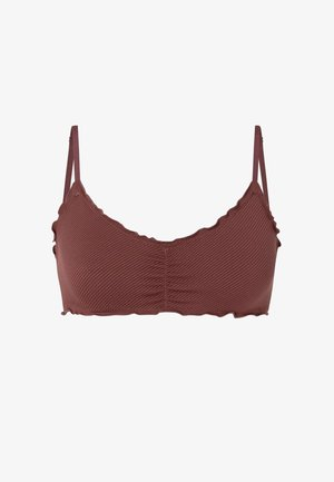 Triangle bra - brown