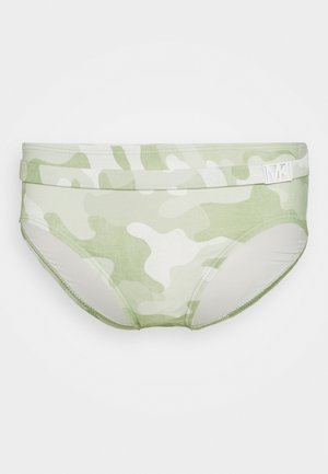 CAMO BELTED BOTTOM - Bikini bottoms - army green