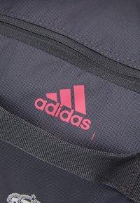 adidas Performance - REAL MADRID SPORTS FOOTBALL DUFFEL BAG UNISEX - Club wear - grey five/white/pink - 5
