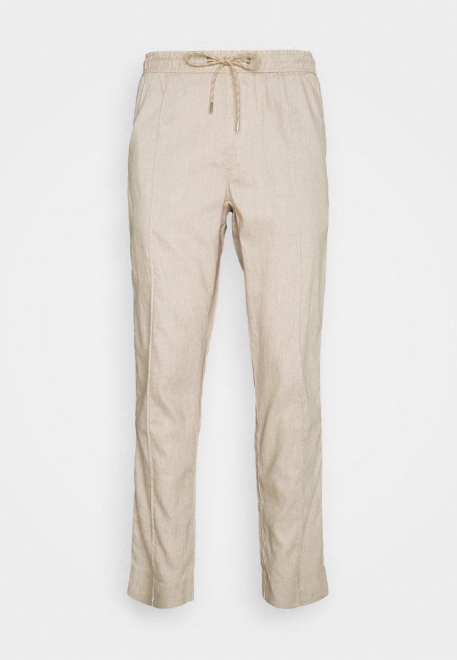 PINTUCK PANT - Pantaloni - beige