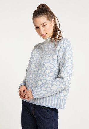 Sweatshirt - grau blau