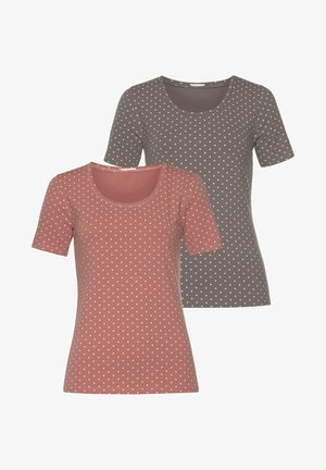 2PACK - Print T-shirt - rosé /taupe