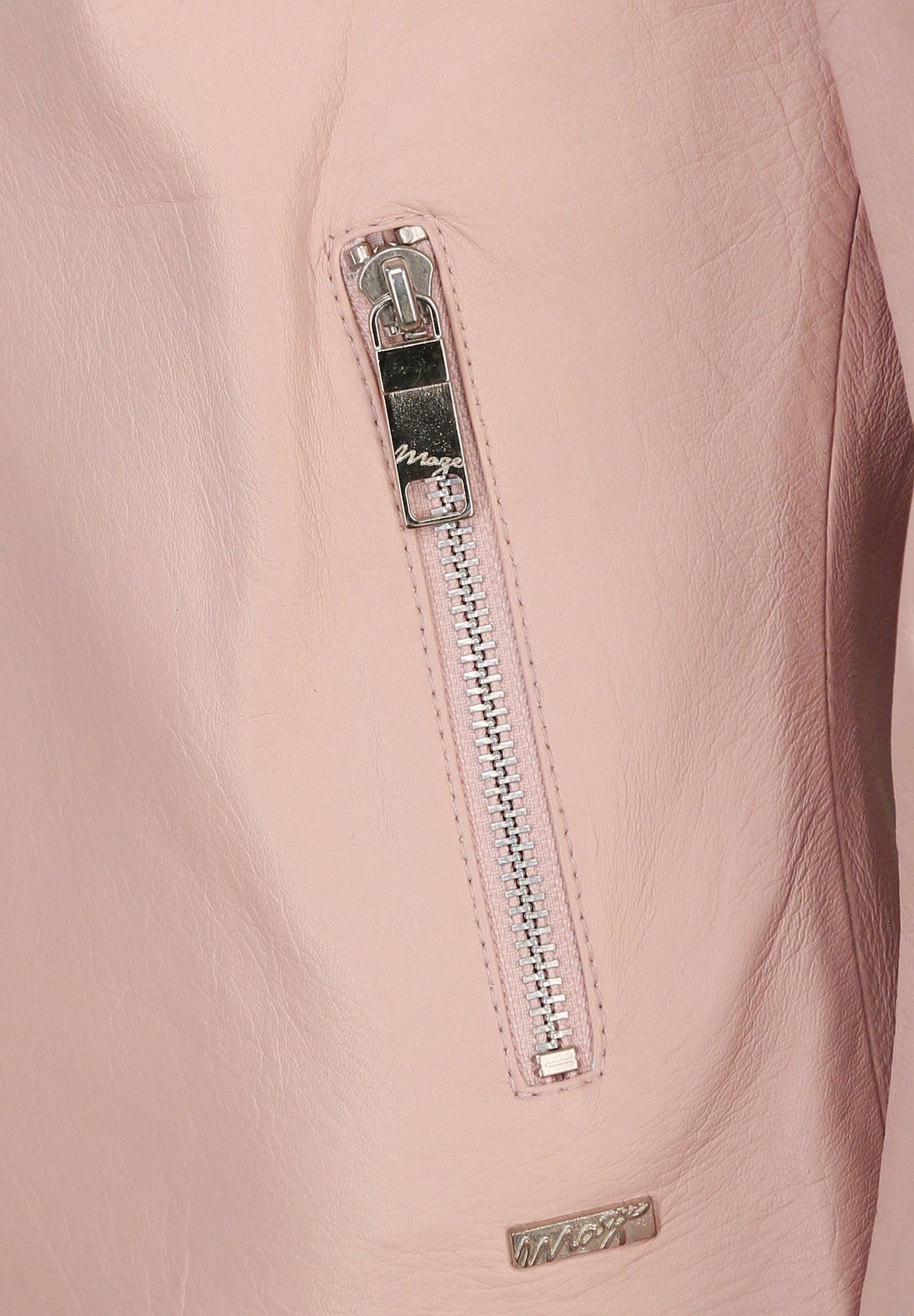 Maze ELEGANT Lederjacke light pink/pink