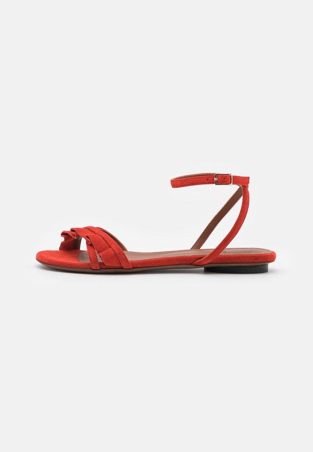 FLAT - Sandaalit nilkkaremmillä - siam