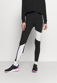 Puma - TRAIN FAVORITE LOGO HIGH WAIST - Medias - puma black/puma white - 0