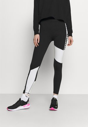 TRAIN FAVORITE LOGO HIGH WAIST - Leggings - puma black/puma white