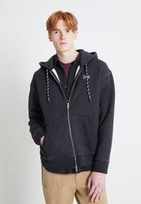 Levi's® - PREMIUM HEAVYWEIGHT ZIP - Zip-up hoodie - black bird heather - 0