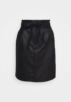 VMEVA PAPERBAG  - Pencil skirt - black