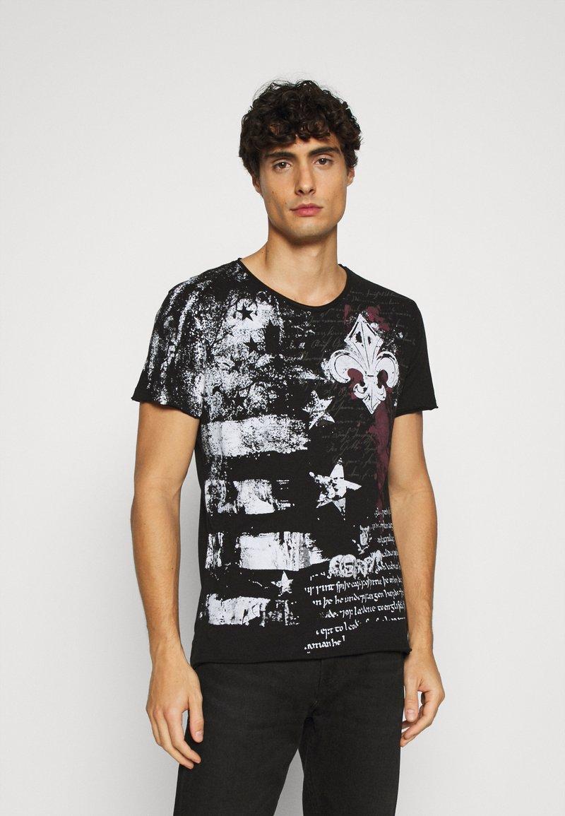 Key Largo - INDICATE ROUND - Print T-shirt - black