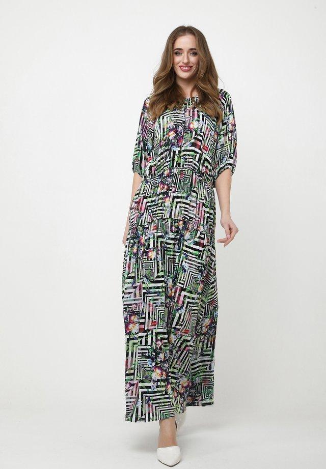 GRETELE - Robe longue - hellgrün schwarz