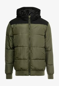 Only & Sons - ONSBOSTON QUILTED BLOCK HOOD - Giacca invernale - forest night - 3