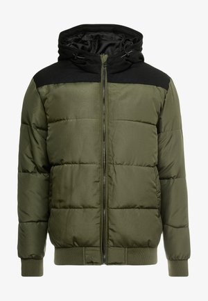 ONSBOSTON QUILTED BLOCK HOOD - Chaqueta de invierno - forest night