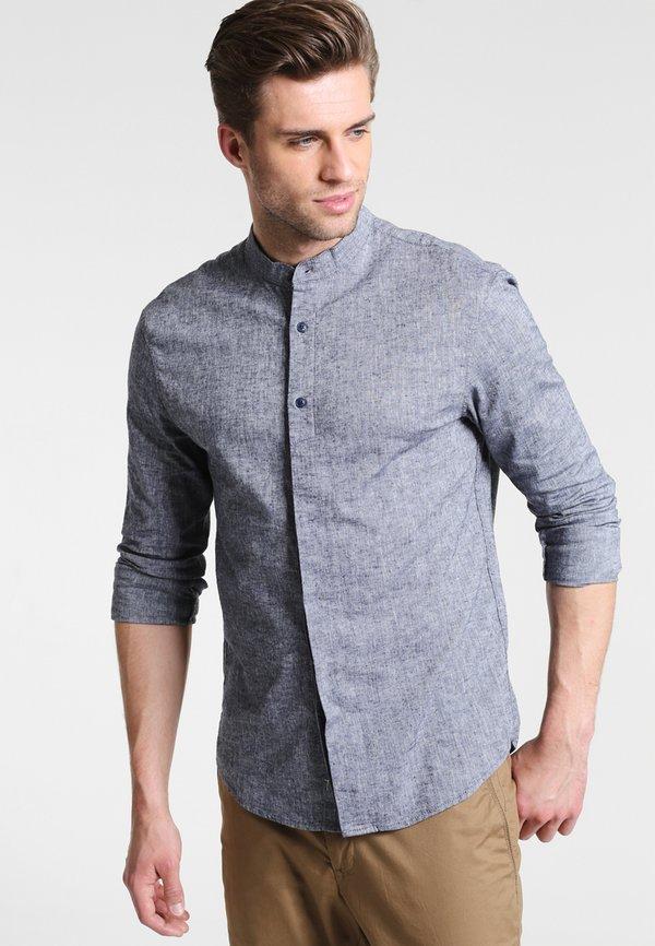 Pier One Koszula - dark blue/granatowy Odzież Męska UIYX