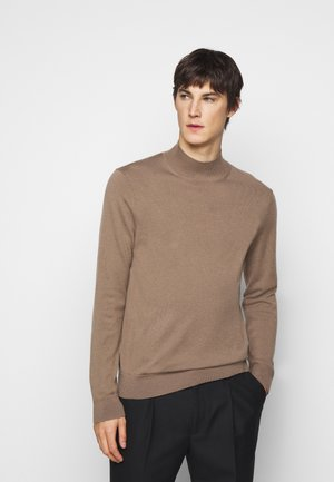 RESPONSIBLE MOCK - Stickad tröja - taupe