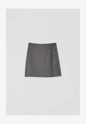 Áčková sukně - mottled dark grey