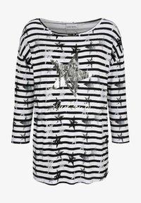 Laura Kent - Long sleeved top - schwarz weiß - 1